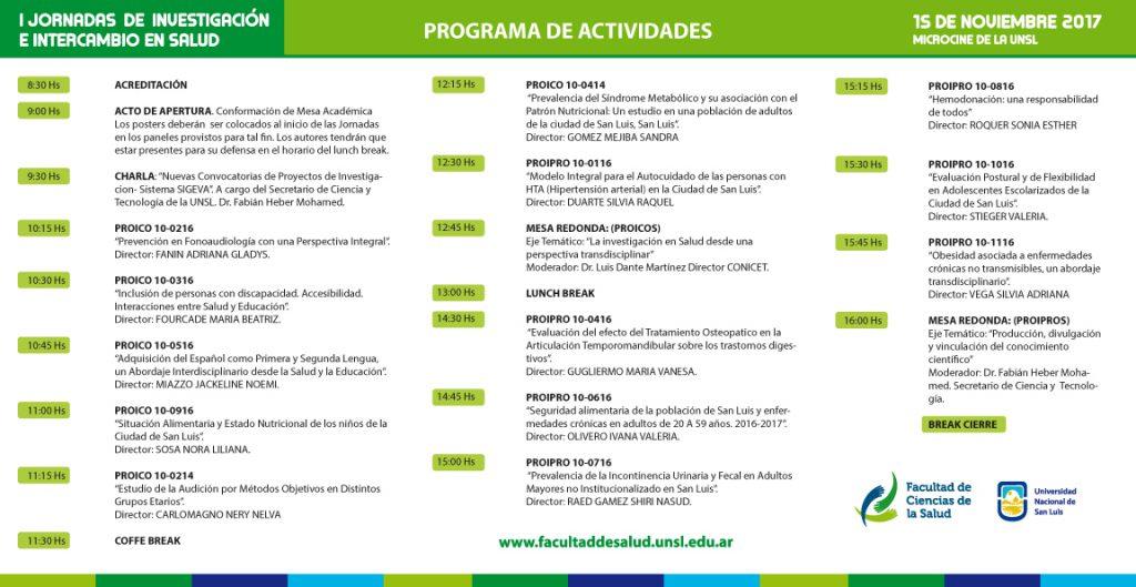 Programa Jornadas de Investigacion 2017